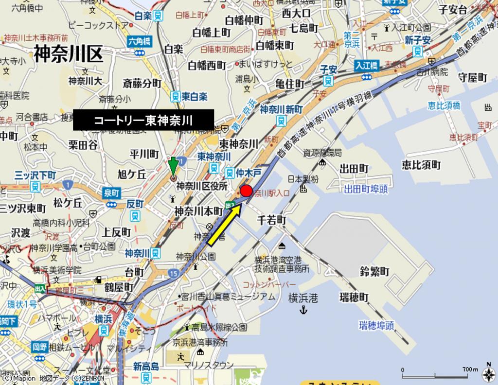 首都高横羽線 コートリー東神奈川